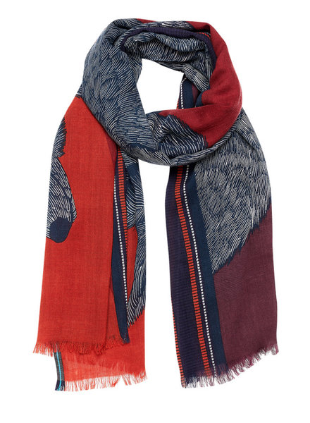 Inouitoosh Soto Scarf Burgundy Squirrel / Bordeaux Ecureuil