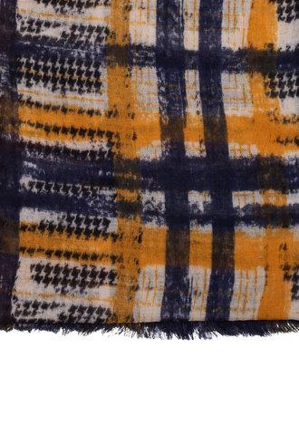 Destin Janel Vintage Check Scarf Blue / Mustard