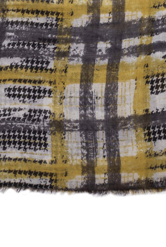 Destin Janel Vintage Check Scarf Grey / Green