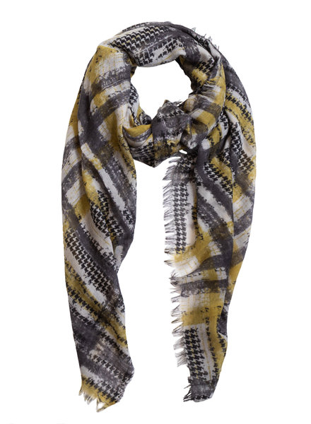 Destin Janel Vintage Check Scarf Grey / Green
