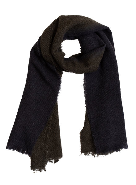 Destin Melisa Bicolor Scarf Dark Olive / Off Black