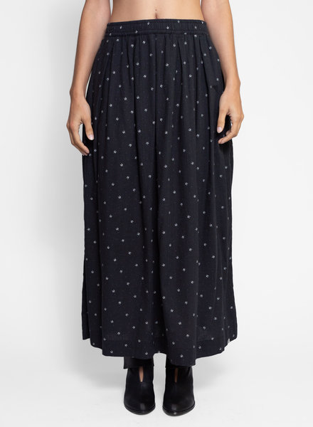 Bsbee Gemma Long Skirt Regina Print Black