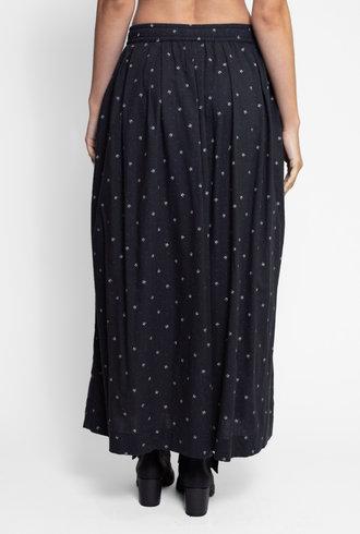 Bsbee Gemma Long Skirt Regina Print Black