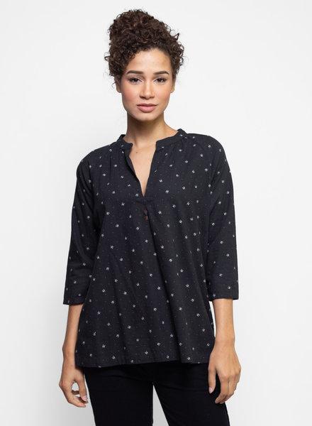 Bsbee Monroe Shirt Regina Print Black