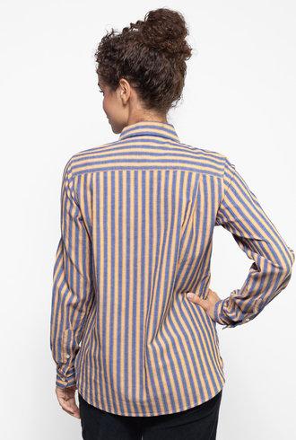 Trovata Grace Classic Shirt Navy / Gold Stripe