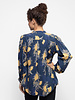 Trovata Colette Long Sleeve Bohemian Blouse Navy / Gold Floral