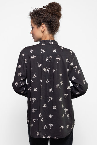 Trovata Helena Shirt Black Floral Print