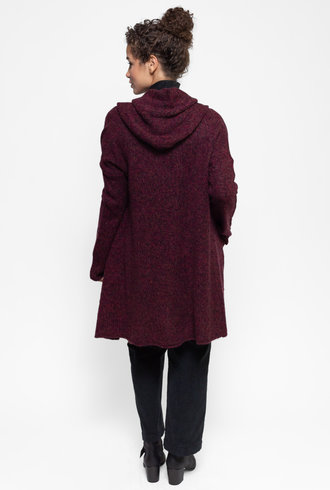 360 Sweater Sienna Sweater Coat Vintage Claret