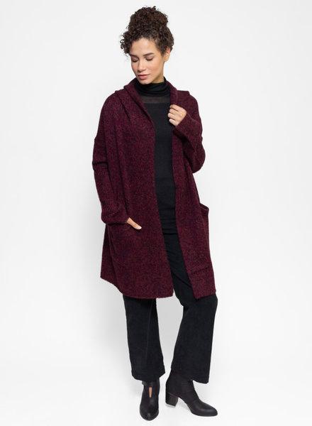 360 Sweater Sienna Sweater Coat Vintage Claret