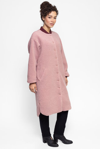 The Great The Sherpa Coat Dusty Rose