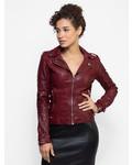 Lamarque Chloe Leather Jacket Porto Red