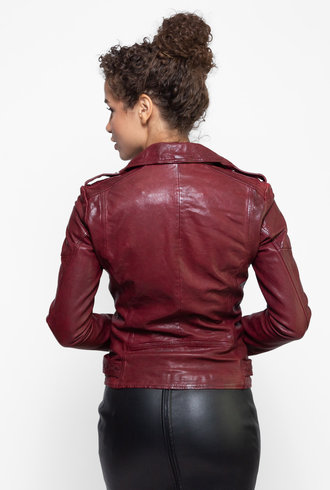 Lamarque Chloe Leather Jacket Porto Red