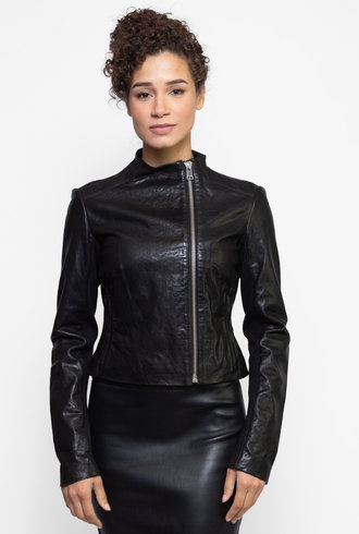 Lamarque Kaila Leather Jacket Black