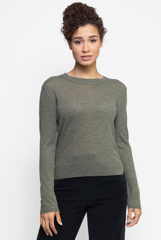 Inhabit Notch Crew Neck Sweater Griffin