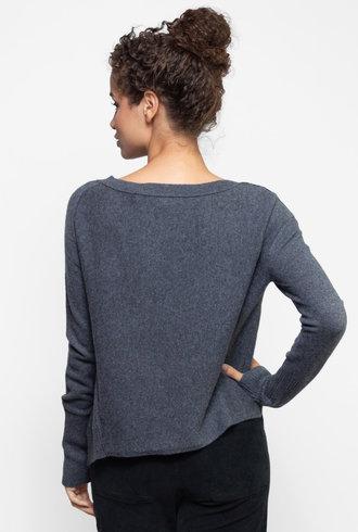 Inhabit Asymmetrical Pullover Graphite