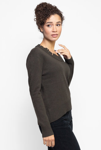 Inhabit Distressed Cashmere Sweatshirt Griffin