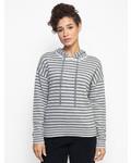 Kokun Stripe Hoodie Sweater Cloud / Medium Grey