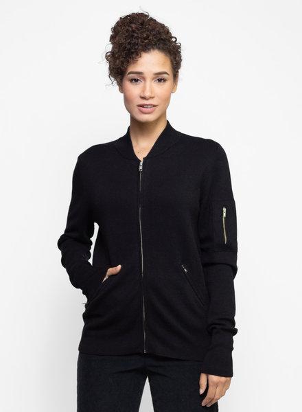 Kokun Cashmere Mini Flight Jacket Black