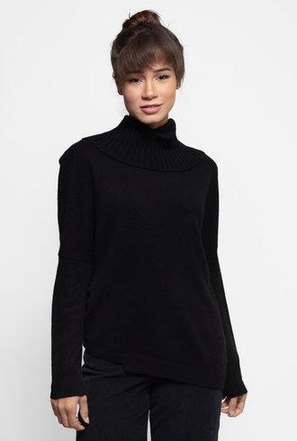 Inhabit Two Way Turtle Neck Sweater Black