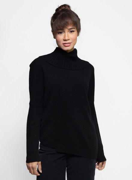 Inhabit Two Way Turtle Neck Sweater Black