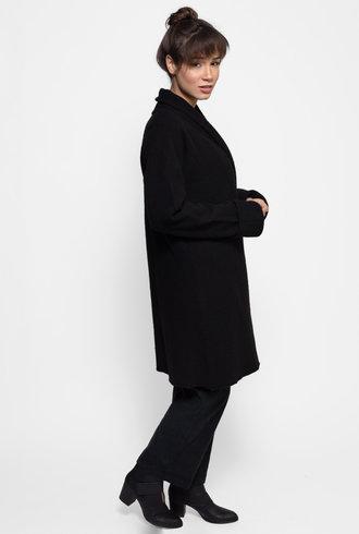 Inhabit Boiled Wool Sweater Coat Black