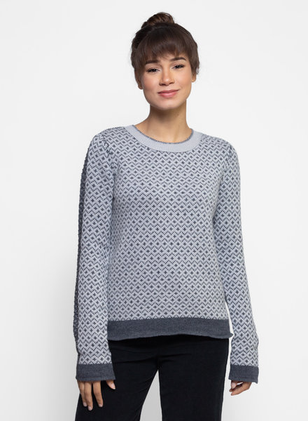 Inhabit Luxe Jacquard Pullover Sweater Graphite