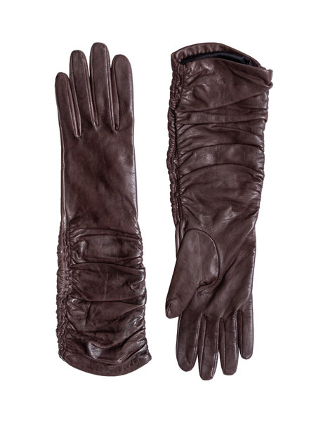 Orciani Ruche Long Gloves Tmoro