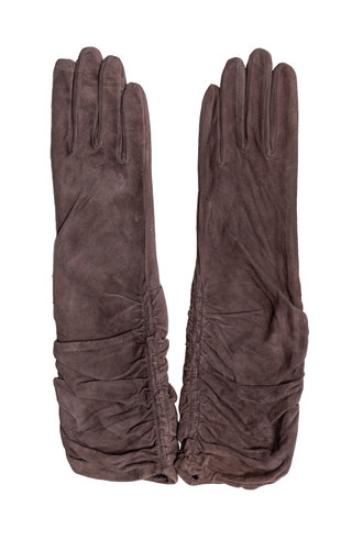 Orciani Suede Gloves Brown