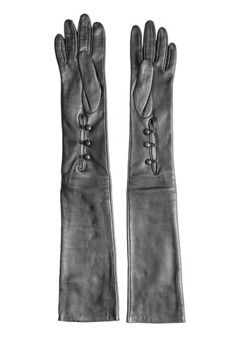 Orciani Long Leather Glove Anthracite