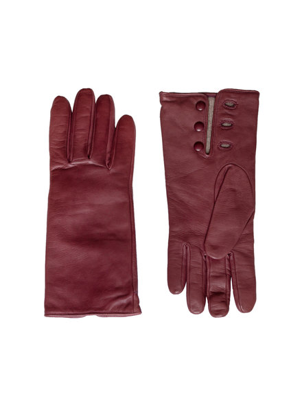 Orciani Leather Gloves Wine