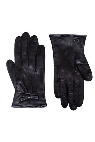 Orciani Tender Gloves Bow Black