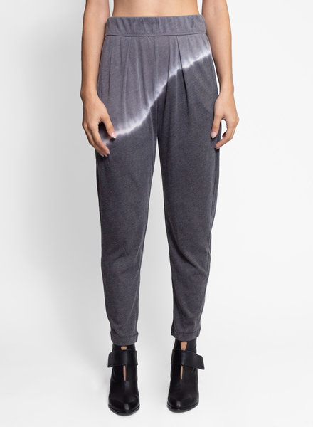 Raquel Allegra Easy Pant Night Grey Tie Dye