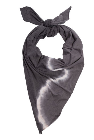 Raquel Allegra Square Scarf Night Grey Tie Dye
