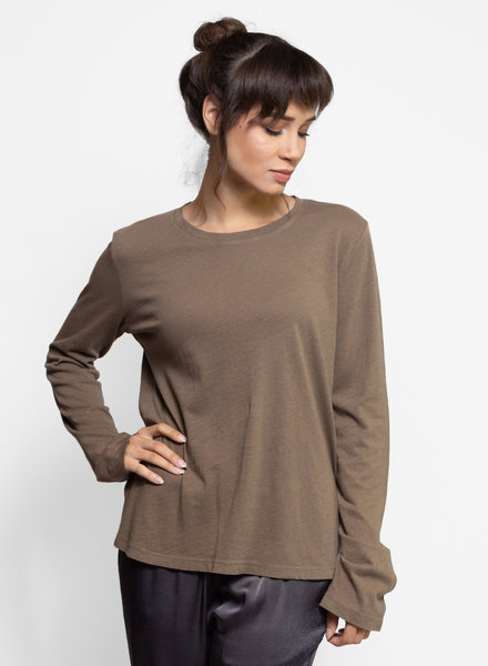 Raquel Allegra Long Sleeve Crew Army
