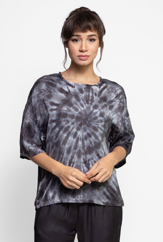 Raquel Allegra Oversize T Shirt Slate Tie Dye