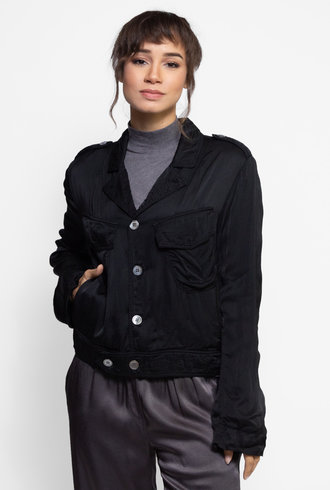 Raquel Allegra Cargo Jacket Black