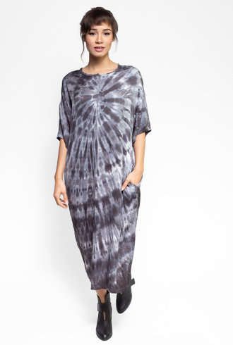 Raquel Allegra T Shirt Dress Slate Tie Dye