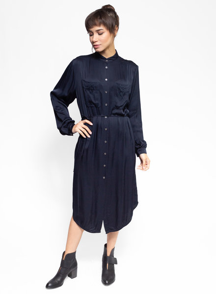 Raquel Allegra Cargo Shirt Dress Navy