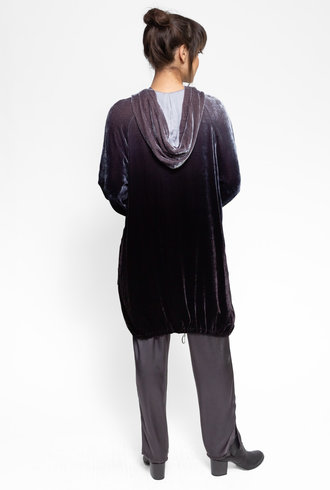 Raquel Allegra Velvet Anorak Night Ombre Tie Dye