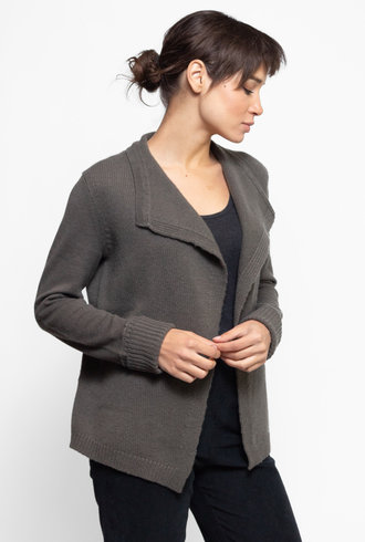 Inhabit Cashmere Cardigan Sweater Sage