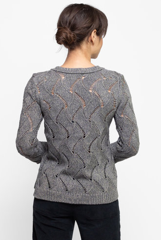 Inhabit Cable Crew Neck Sweater Sage