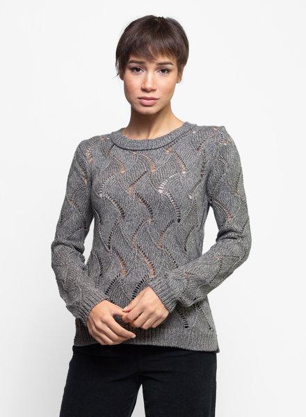 Inhabit Cable Crew Neck Sweater Sage