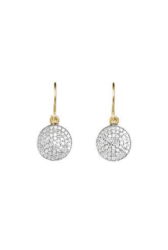 Dana Kellin Fine 14K Pavé Diamond Round Earrings