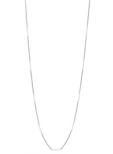 Dana Kellin Fashion Crystal, Dark Silver, and Gold Necklace