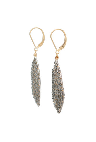 Dana Kellin Fashion Beaded Earrings Gold