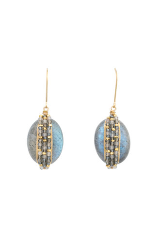 Dana Kellin Fashion Labradorite and Gold Earrings