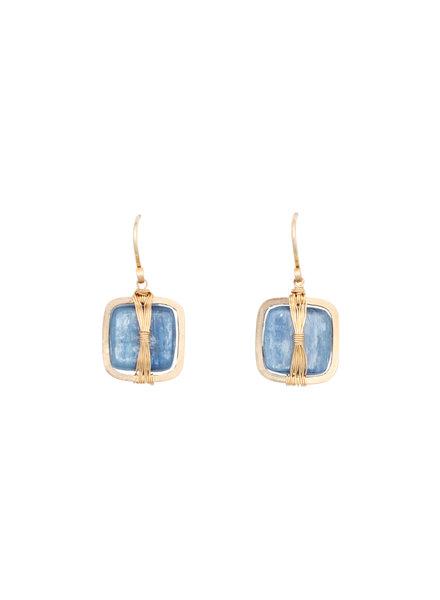 Dana Kellin Fashion Kyanite and Gold Earrings