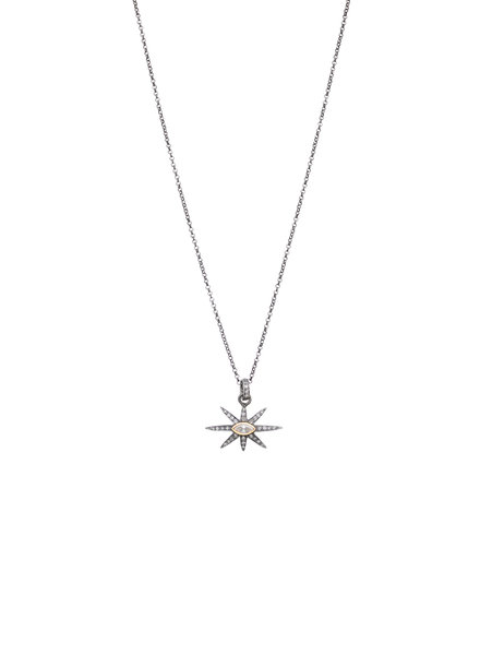 Robindira Unsworth Marquise Diamond Star Pendant Necklace