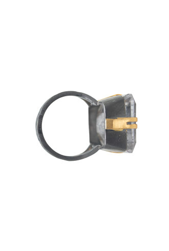 Robindira Unsworth Rutilated Quartz Silver Ring