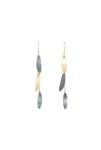 Sarah McGuire Two Tone Falling Leaves Earrings